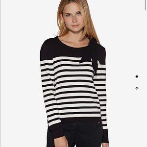 Avec Les Filles Parisian Striped Sweater